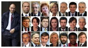 Le Gouvernement Letta. Montage photo de La Répubblica