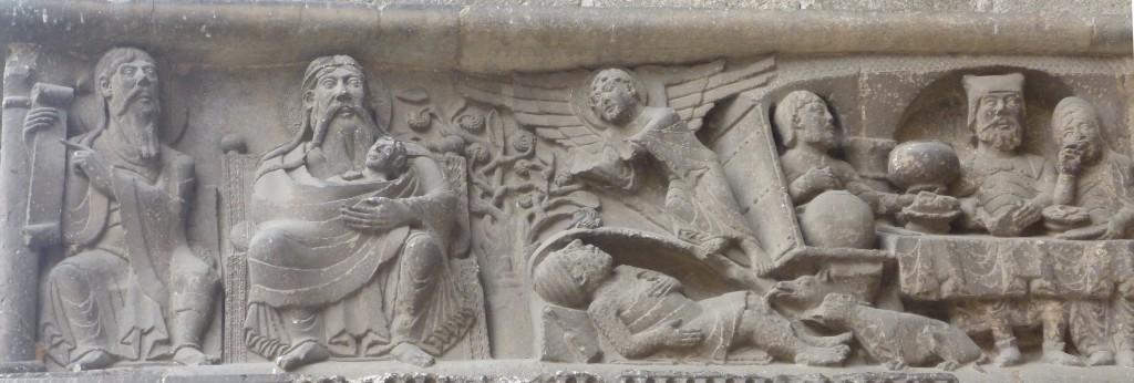 La parabole de Lazare et du mauvais riche, Abbatiale Saint-Pierre de Moissac