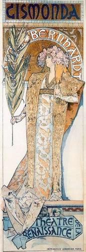 Affiche d'Alfons Mucha pour Cismonda avec Sarah Bernhardt, 1894