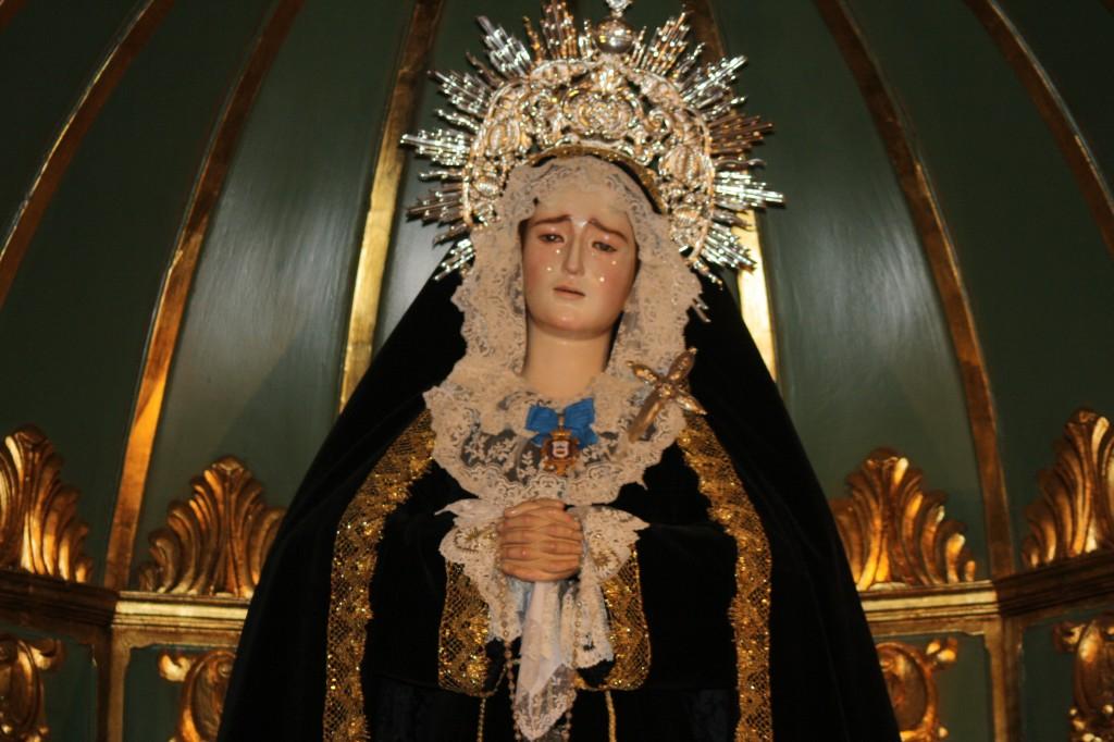 Dans une église de Malaga, Notre Dame des Douleurs