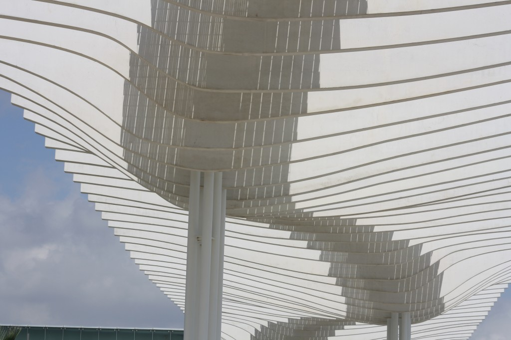 Couverture de la promenade du port, Malaga