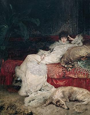Portrait de Sarah Bernhardt par Georges Clarin