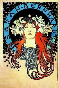 Affiche d'Alfons Mucha pour Sarah Bernhardt