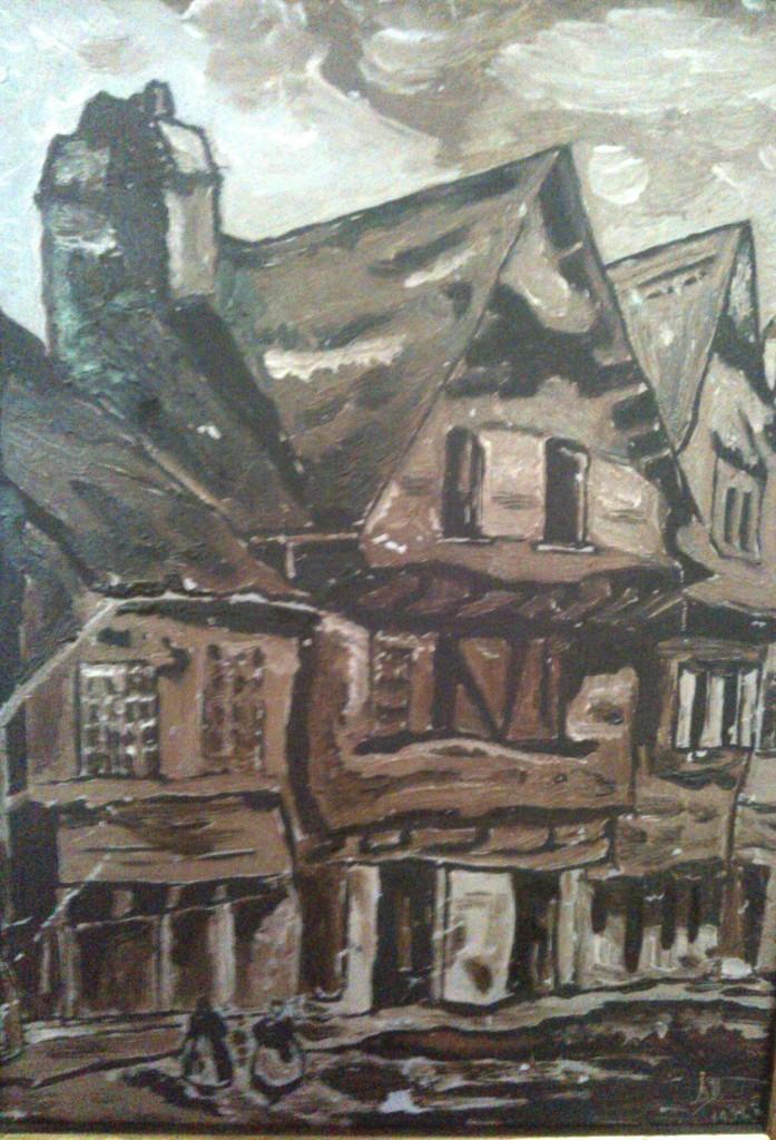 Peinture d'Alfred Deletombe, 1932