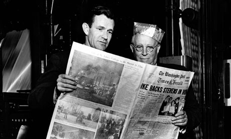 Philipe Graham avec Eugene Meyer, fondteur du Washington Post, en 1954