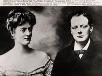 Churchill jeune et son épouse Clementine