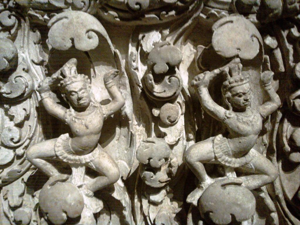 Bas relief d'Angkor, moulé par les équipes de Louis Delaporte