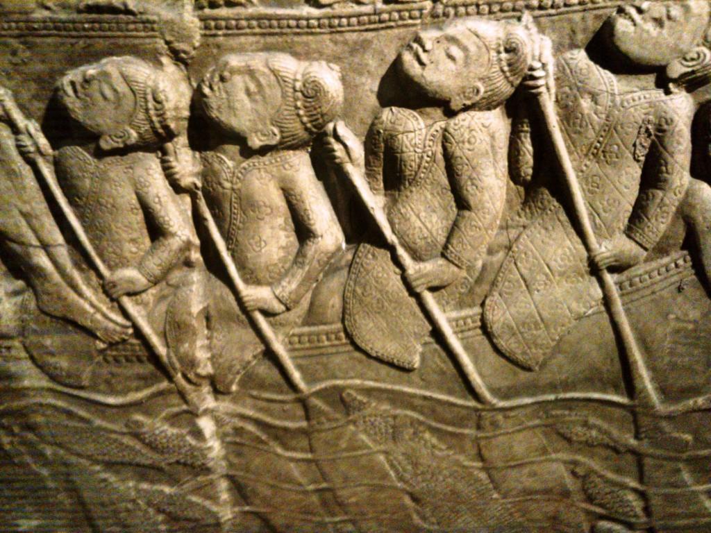 Moulage d'Angkor réalisé par les équipes de Louis Delaporte