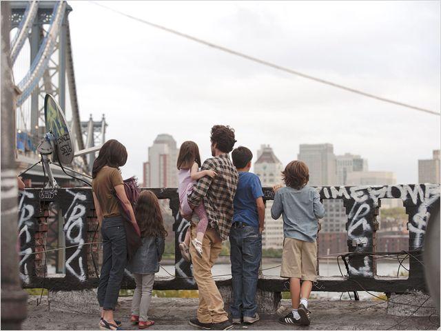 Xavier, Martine et leurs enfants à New-York