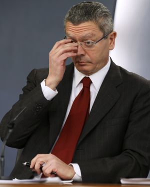 Alberto Ruiz Gallardon, Ministre le la Justice espagnol. Photo El Pais.