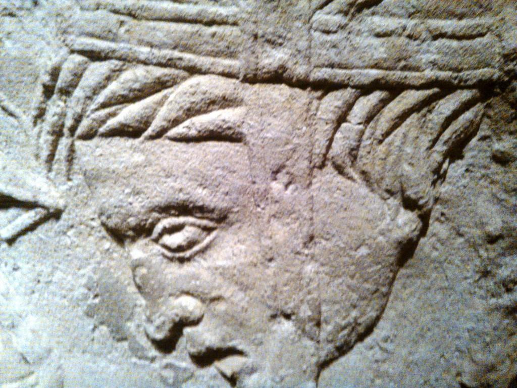 Stèle représentant un barbare captif au musée d'Aquitaine de Bordeaux