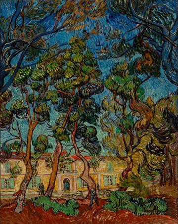 Convulsion des arbres du jardin de l'hôpital Saint Paul de Saint Rémy, 1889