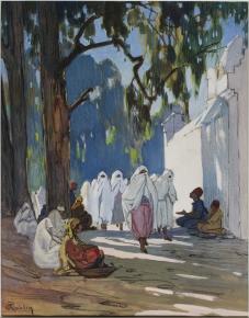 Pierre Roblin, un vendredi, jour des femmes au cimetière arabe, Alger
