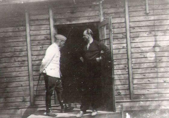 Franz Stangl avec un adjoint à Treblinka