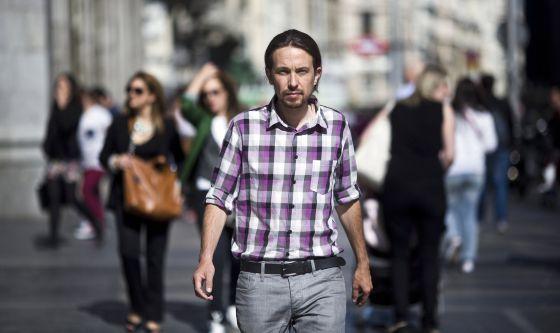 Pablo Iglesias, l'un des leaders de Podemos (Espagne)