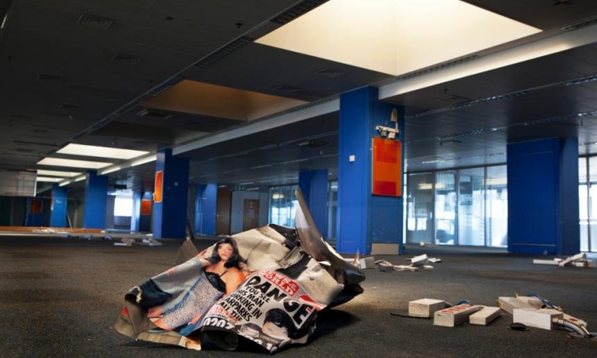 """Les bureaux de """"The News of the World"""" après la fermeture du journal"""