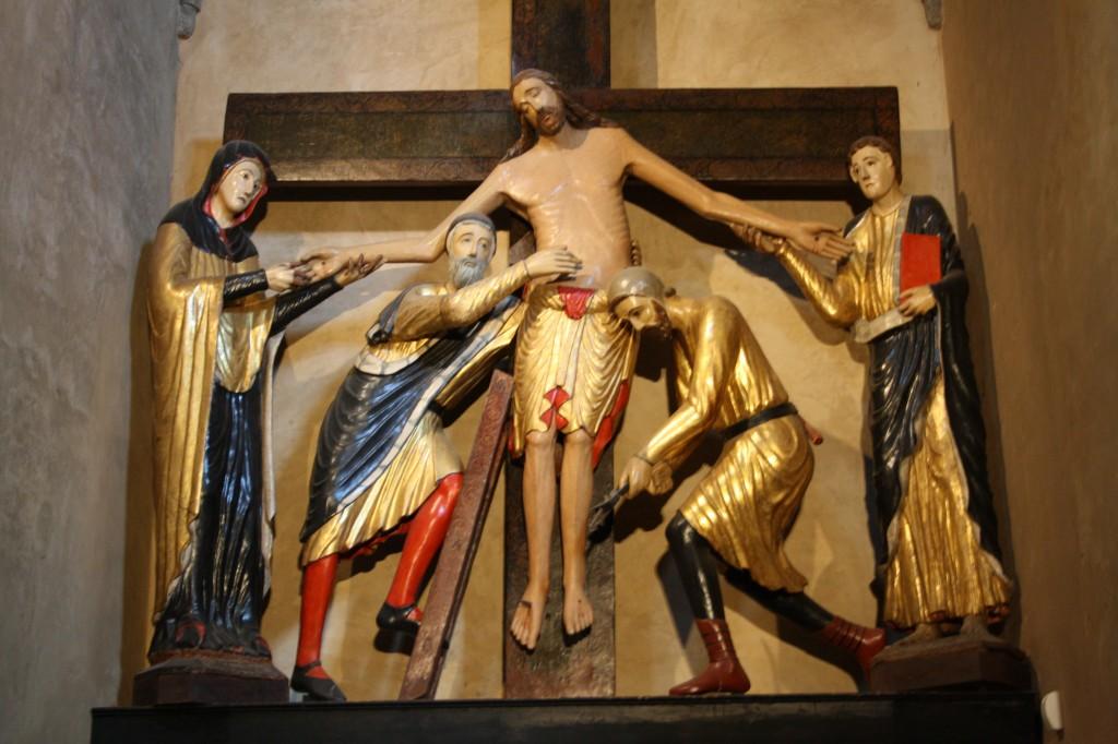 Retable de la déposition de Croix, dans la Cathédrale de Volterra