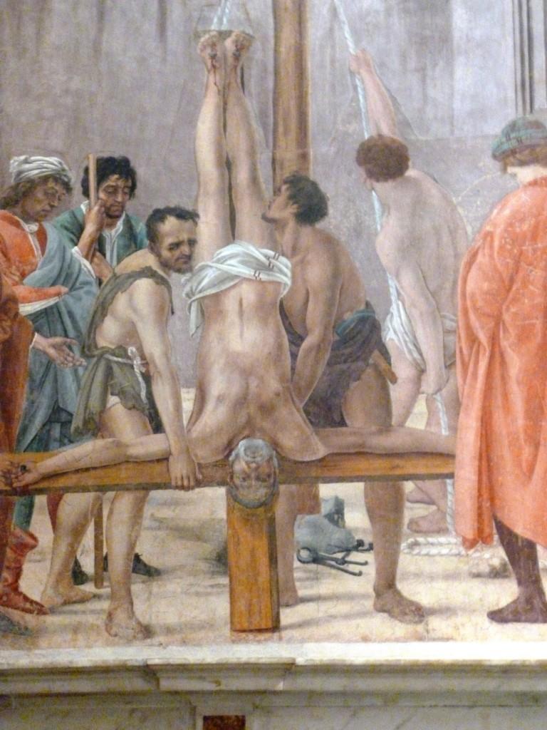 Crucifixion de Saint Pierre (détail), Filippino Lippi, Chapelle Brancacci, Florence