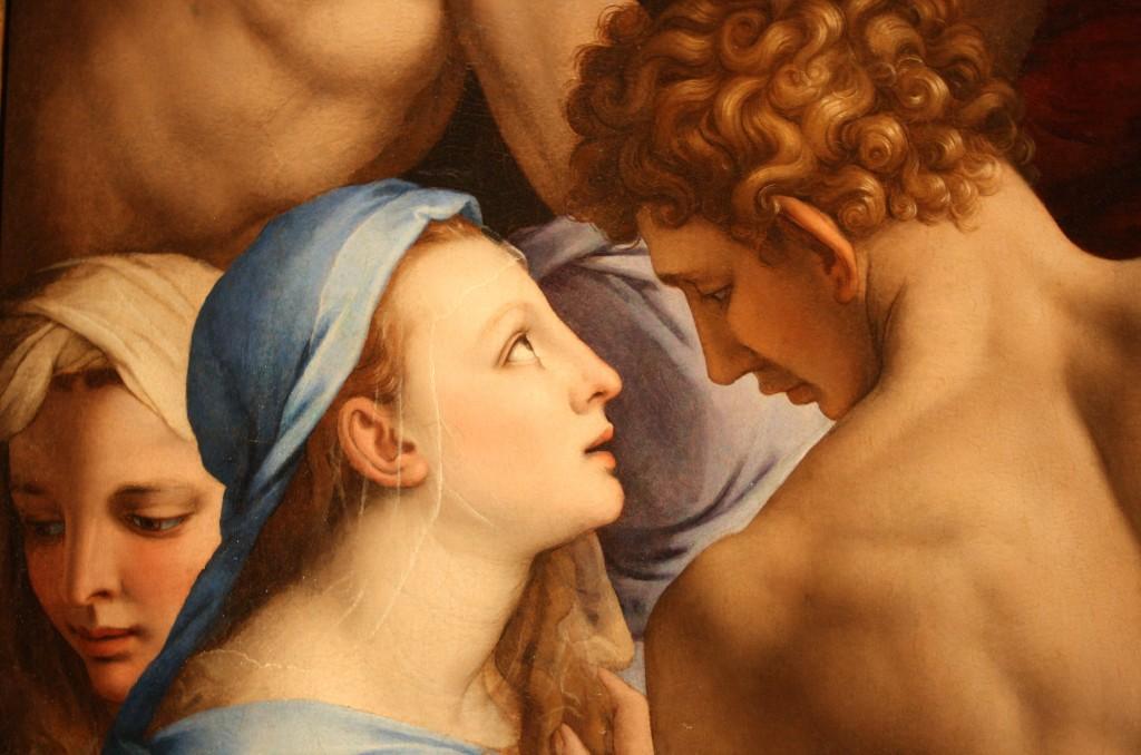 Détail d'une fresque, église Santa Croce, Florence