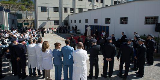 Visite du pape à la prison de Castrovillari, dans le sud de l'Italie