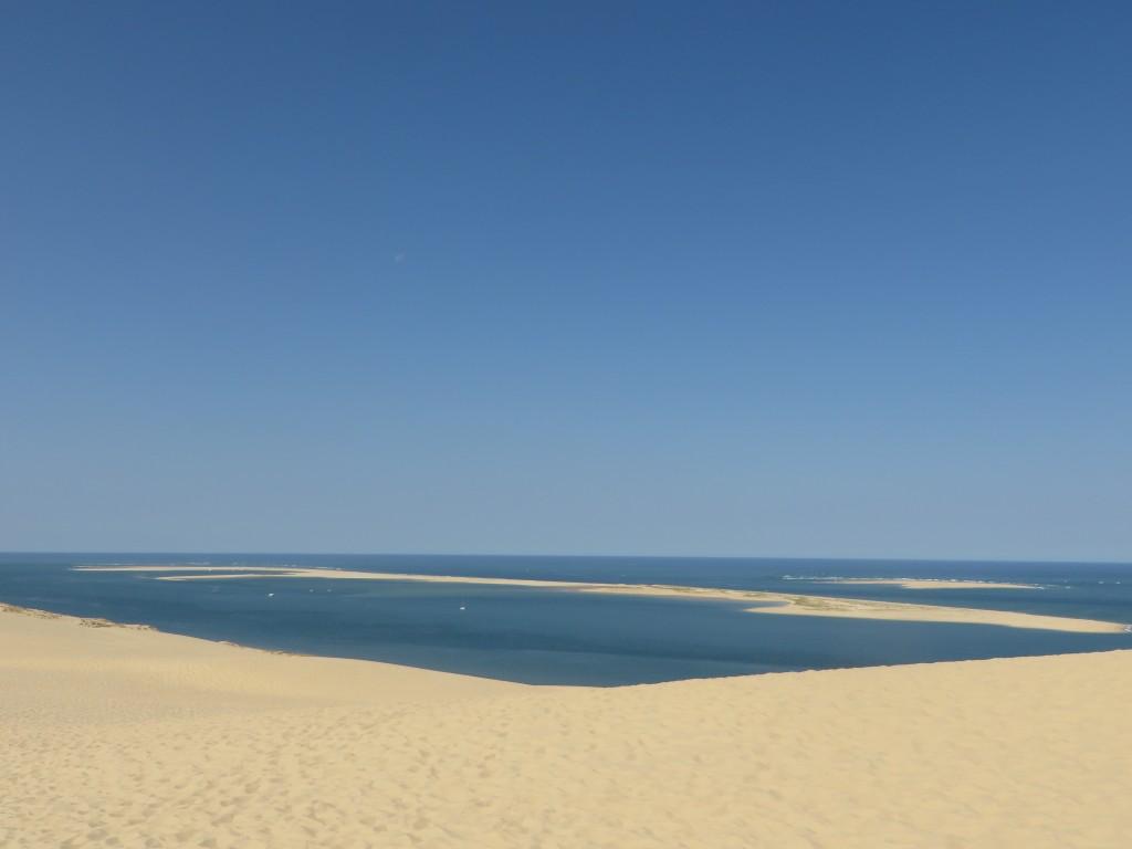De la dune de Pyla, le bac d'Arguin et l'Océan