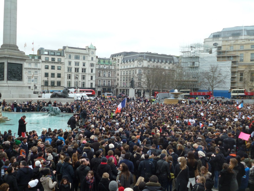 Manifestation à Londres le 11 janvier 2015
