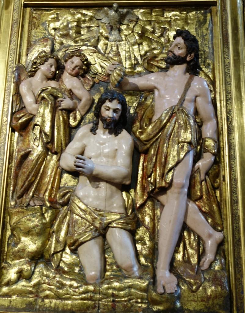 Retable dans la cathédrale de Pampelune