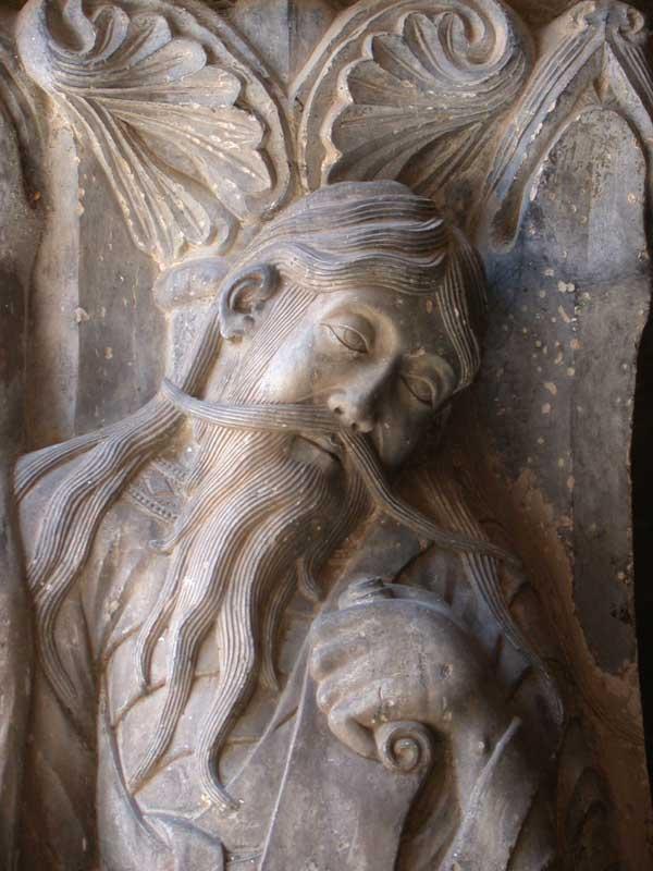 Jérémie, tympan de l'Abbatiale de Moissac